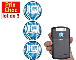 Lot promo 3 anti-ondes Iqshield téléphone mobile & box WIFI