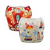 Alva Baby Lovely Swim Windeln verwendbar verstellbar Schwimmen Pants 2Pack