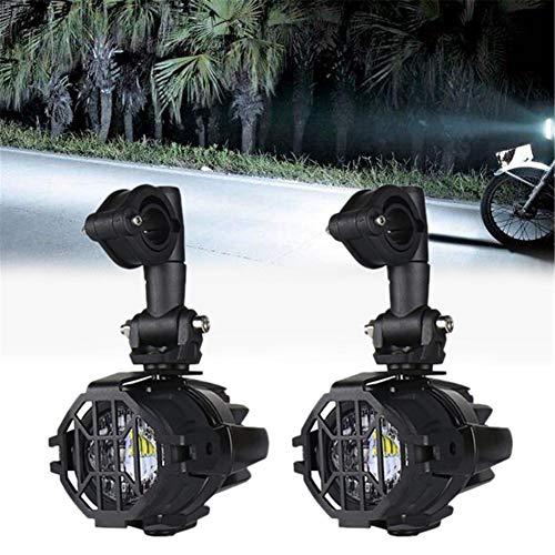 Katurn 2 Stücke 40 Watt 3000LM Motorrad Led Nebelscheinwerfer, 12V-24V Moto wasserdichte Zusatzscheinwerfer, 6000-6500K Outdoor Zusätzliche Licht Set Für ADV, BMW R1200GS F800GS