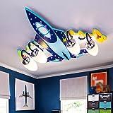 Ali Kinderzimmer Deckenlampe Jungen Kreative Flugzeug Lichter Schlafzimmer LED Augenschutz Mädchen Karikatur Raum Lichter/E14 * 3/4 (größe : 70*65*15CM)
