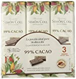 Chocolates Simón Coll Chocolate 99% Cacao - 16 Unidades