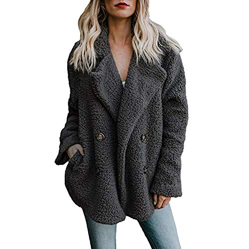 NPRADLA Cappotto Casual Camicette Maglietta Manica Lunga Donna Elegante Camicia Caldo Parka 2019