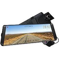 """AUTO-VOX X2 Streaming Dashcam mit 9.88"""" Touchscreen, Full HD 1296P Autokamera vorne und hinten 140° Weitwinkel IP68 wasserdichte Rückfahrkamera mit Nachtsicht"""