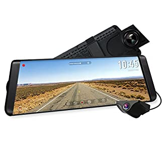 AUTO-VOX-X2-Streaming-Dashcam-mit-988-Zoll25-cm-LCD-Touchscreen-Full-HD-1296P-Autokamera-Vorne-und-Hinten-140-Weitwinkel-IP68-Wasserdichte-Rckfahrkamera-mit-Nachtsicht