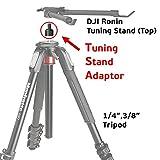 gyrovu Tuning soporte adaptador de trípode para DJI Ronin/DJI Ronin M/MX diseñado para pantalla plana soporte de ajuste de DJI (parte 11, parte 15) en trípode estabilizador de hacer del procedimiento de ajuste rápido y fácil