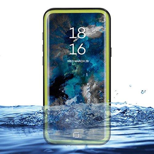 eazewell Galaxy S9Wasserdicht Schutzhülle, Ultra Slim 100% Unterwasser stoßfest Schneedicht Schutzhülle Transparent Rückseite Haut Rugged Box für Samsung Galaxy S9sm-g960, Grün Touchable Crystal Case