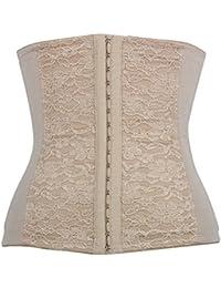 TININNA Encaje Corsé Faja corset Girdle Bustier para Mujer en desnudo(4XL)