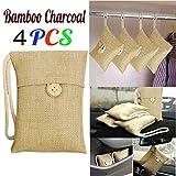 TAOtTAO 4Pcs bag Car Bamboo Charcoal Activated Carbon Air Freshener Odor Deodorant New (4pcs 15X8.5cm)