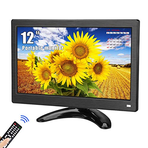 12 Zoll CCTV Monitor, Kenowa Full HD 1366 * 768 TFT Tragbarer Bildschirm mit HDMI VGA AV BNC für Auto-Backup-Kamera PC TV CCTV Home Office Surveillance Laptop PS3 PS4 Bildschirm erweitern