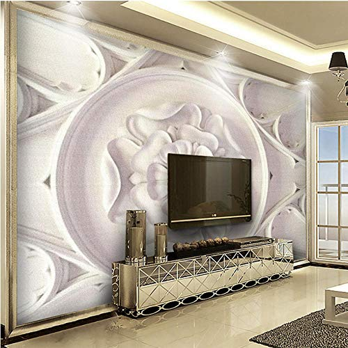 Custom Photo Wallpapers 3D White Golden Classic Patrón Europeo Wallpaper Arte Mural Sala de estar Sofá Tv Fondos Decoración para el hogar