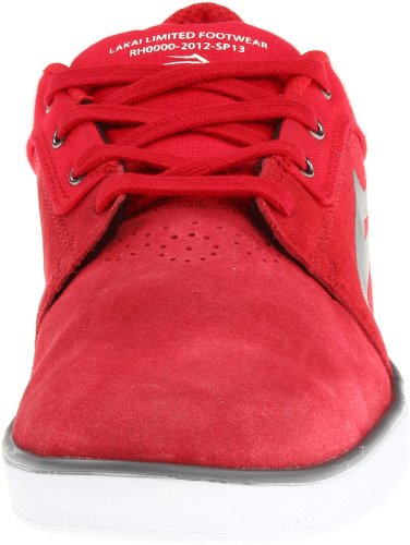 Lakai HOWARD MS113-0007-B00, Sneaker uomo Rosso (Rot (RED SUEDE A0600))