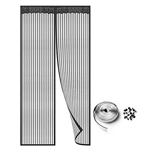 Homein zanzariera magnetica per porte finestre-tenda zanzariera magnetica 100x210cm porta esterna,magic mesh zanzariera chiusura automatica con calamita