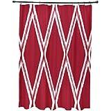 E por diseño Gate Keeper geométrico impresión cortina de ducha, fórmula uno