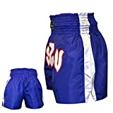 Thai Shorts, Polyester, Blue, Small
