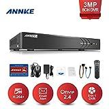 ANNKE TVI 3MP DVR Sorveglianza 3 MegaPixel 8 Canali Digital Video Recorder 3.0 MegaPixel DVR Sorveglianza DVR/HVR/NVR Videosorveglianza 5-in-1 TVI/CVI/AHD/CVBS/IP Email Allarme 3 Snapshot Manuale Italiano Cloud Storage H.264+ P2P 2 IP Camera Extra senza HDD