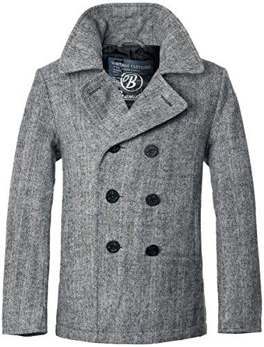Brandit Pea Coat Jacke grau L (Kragen Pea Coat)