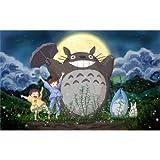 My Neighbor Totoro (22inch x 14inch / 56cm x 35cm) Silk Print Poster - Seide Plakat - 21D9D7