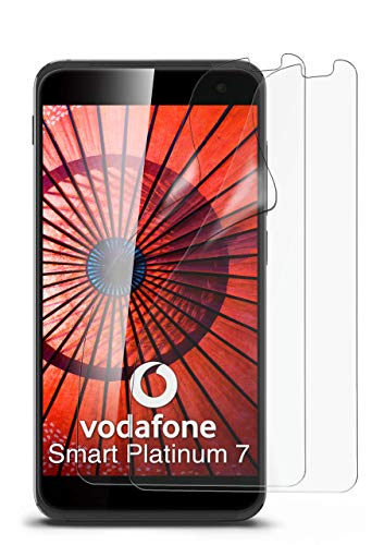 2X Vodafone Smart Platinum 7 | Schutzfolie Matt Bildschirm Schutz [Anti-Reflex] Screen Protector Fingerprint Handy-Folie Matte Bildschirmschutz-Folie für Vodafone Smart Platinum 7 Bildschirmfolie