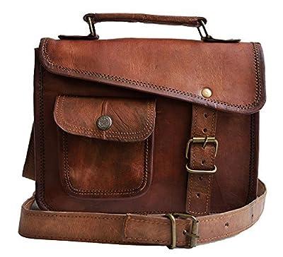 Jaald- élégant sac bandoulière marron en cuir véritable, style messager pour hommes - iPad 1234- tablette mini iPad - sacoche Murse - sac à sangle en cuir - bandoulière - sac à main pour hommes - sac pour ordinateur portable.