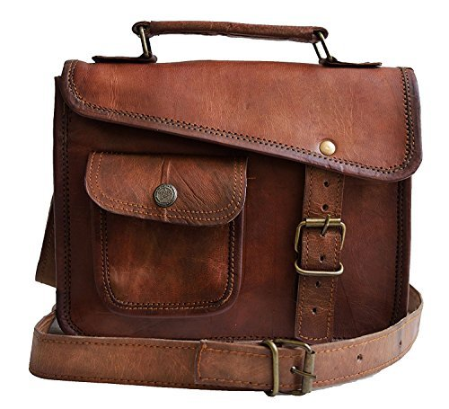design intemporel 5ca22 6b33b Jaald- élégant sac bandoulière marron en cuir véritable, style messager  pour hommes - iPad 1 2 3 4 - tablette mini iPad - sacoche Murse - sac à  sangle ...