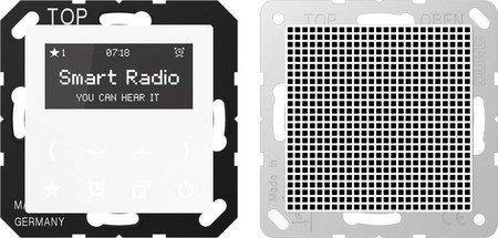 Jung Rad A 518 WW Smart Radio - Set Mono Serie A alpinweiß, 230 V