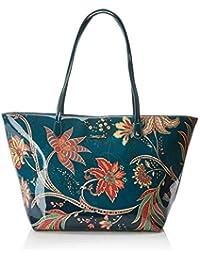 Desigual Bols_discovery_capri Zipper, Women's Shoulder Bag, Blue (Petrucho), 13x28x30 cm (B x H T)
