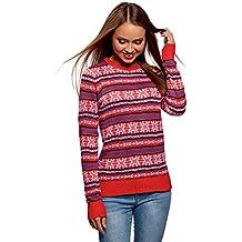 nuovo prodotto cce1c 93eb7 maglione natalizio donna - Rosso - Amazon.it