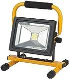 Brennenstuhl Mobile Akku Chip-LED-Leuchte / LED Strahler Akku (Außenleuchte 30 Watt, Baustrahler IP54, Fluter Tageslicht) Farbe: schwarz/gelb