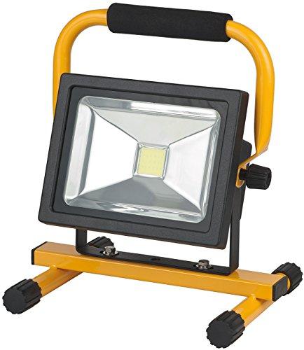 Brennenstuhl Mobile Akku Chip-LED-Leuchte / LED Strahler Akku (Außenleuchte 20 Watt, Baustrahler IP54, Fluter Tageslicht) Farbe: schwarz/gelb -