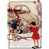 Nostalgic-art 16408Volkswagen Maggiolino VW il grande giorno latta Post Card, 10x 14cm - Foto Cartolina Postale