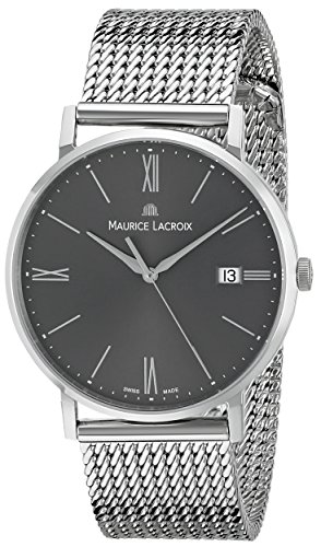 Maurice Lacroix Eliros Date Quartz Uhr, Milanaise Stahlband, EL1087-SS002-810-1