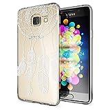 NALIA Handyhülle für Samsung Galaxy A3 2016, Slim Silikon Motiv Case Hülle Cover Crystal Schutzhülle Dünn Durchsichtig Etui Handy-Tasche Backcover Transparent Phone Bumper, Designs:Feathers