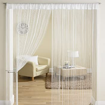 Classic White String Tassle Panel Divider Screen Window Door Curtain 90x200cm & Classic White String Tassle Panel Divider Screen Window Door Curtain ...