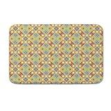 DKISEE Fußmatte für den Innen- und Außenbereich, abstraktes Muster, 1 Stück, Flanell, 15.7
