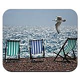 Beach Ocean Shore Stühle und Möve Mauspad Mauspad