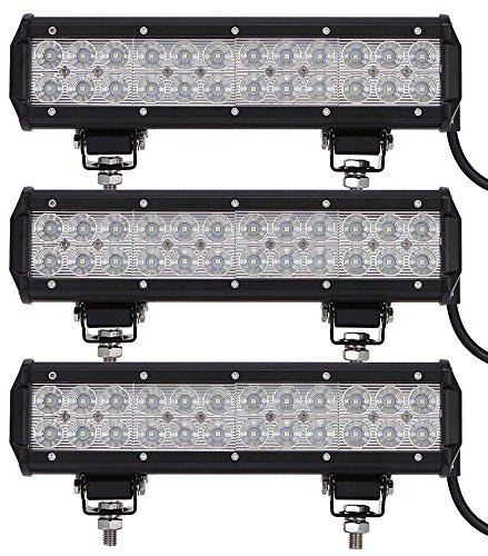 Leetop 3X 72W LED Arbeitsscheinwerfer weiß 12V 24V Flutlicht Reflektor Work Light Bar Scheinwerfer Arbeitslicht Offroad Arbeitslampe für Traktor 24 Led Work Light