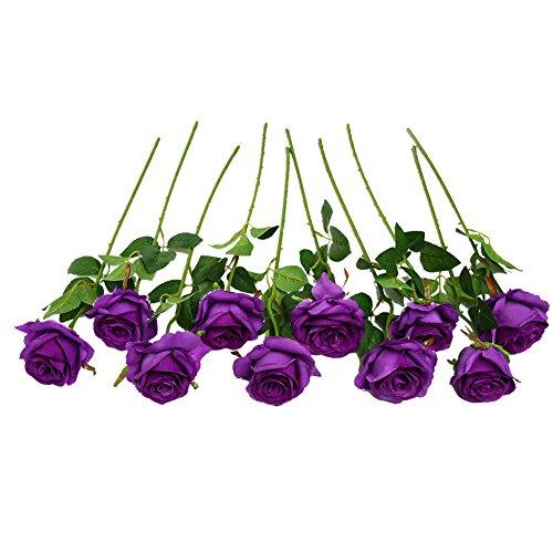 Ramo rosas artificiales seda Justoyou arreglos florales