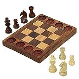 Handarbeit aus Holz Anfänger Schachspiel - Kreuzung Zwischen Schach und Tic TAC Toe - Lehrt Grundschachzüge