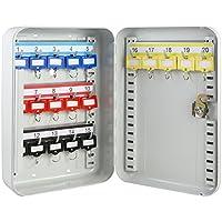 HMF Caja para llaves (250x 170x 75mm, 20ganchos), color gris claro Ganchos ajustables