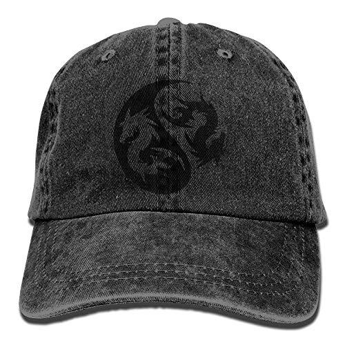 Presock Dragon nyang Denim Hat Adjustable Men Plain Baseball Cap