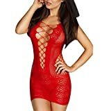 CHIC-CHIC Robe Décolletée Maille Pyjama Lingerie Nuisette Babydoll Sexy Déguisement ...