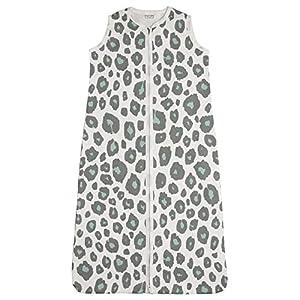 Meyco 412956 PANTER Stone Green – Saco de dormir de verano (110 cm, sin forro, 100% algodón, 12-36 meses), multicolor