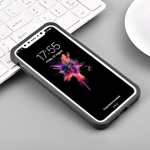 Étui pour téléphone portable pour Iphone X avec couvercle transparent Transparent pour PC et housse de téléphone portable Tpu Edge Résistant aux rayures et antichoc pour Apple 5.8
