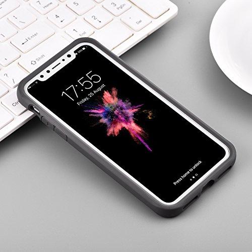Autour für Iphone X Hülle, mit transparenter freier rückseitiger Verkleidung und Tpu Rand-Handy-Abdeckung für Apple 5.8