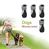 #4: Black, XL : Pure Rubber Soft Sole Walking Running Dog Shoes for Small Pet Dog Puppy Cat Boot Shoes Breathable and Comfortable