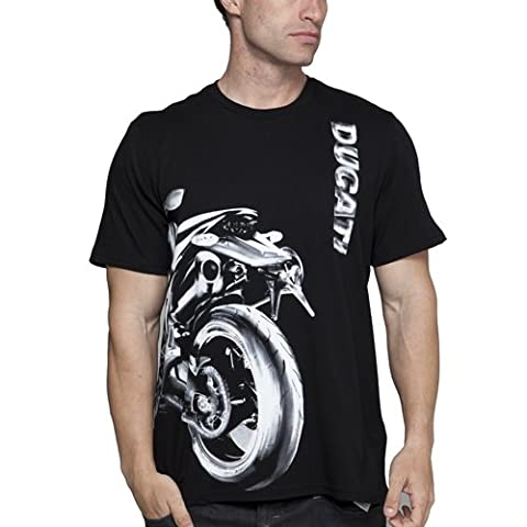 Herren Puma Ducati Schwarz Graphic T-Shirt S