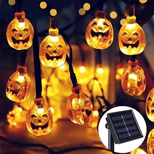 LHY LIGHT Solarbetriebene Fee Lampe Garten DIY Kürbis 30 LED Landschaft Lichter Weihnachten für Halloween Party Dekoration Beleuchtung (Innen Diy Für Halloween-dekorationen)