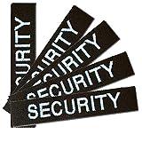 Namensschild Namensband 5er Satz Security-Schwarz m. Klett angeklebt