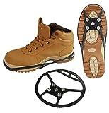 Schuh Spikes Schuhketten Gleitschutz Universal vers. Arten (43-48, Typ 4 (schwarz))