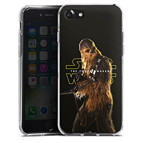 Apple iPhone 7 Silikon Hülle Case Schutzhülle Star Wars Merchandise Fanartikel Chewbacca Silikon Case transparent